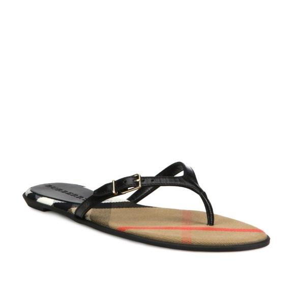 Meadow Poshmark Flip Flops ShoesAuthentic Leather Burberry vNmwOn08